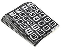 Bittydesign Race Number Decal Sheet (Club Pack  - 50 Sheets)