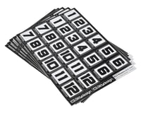 Bittydesign Race Number Decal Sheet (Medium Pack - 5 Sheet)