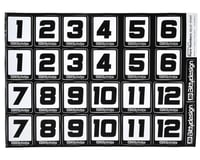 Bittydesign Race Number Decal Sheet (34x24cm)