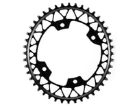 Absolute Black Asymmetric Gravel 1X Oval Chainring (Black) (110mm BCD)