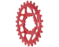 Absolute Black Spiderless GXP Direct Mount Oval Ring (Red) | relatedproducts