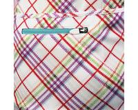 Image 2 for Alexander Julian Women's Argyle Plaid Short Sleeve Jersey (Wh/Pur)