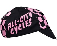 Image 3 for All-City Check Yo'Self Cycling Cap (Black/Pink) (One Size)