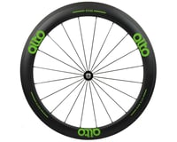Image 1 for Alto Wheels CC56 Carbon Front Clincher Road Wheel (Green)