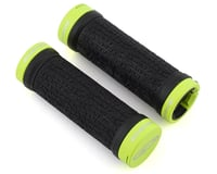 Answer Mini Lock-On Grips (Black/Flo Yellow) (Pair) (Flangeless)