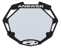 Answer 3D BMX Number Plate (Black)