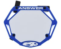 Answer 3D BMX Number Plate (Blue)