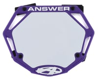 Answer 3D BMX Number Plate (Purple) (Mini) | alsopurchased