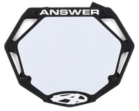 Answer 3D BMX Number Plate (Black) (Pro) | alsopurchased