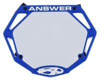 Image 1 for Answer 3D BMX Number Plate (Blue) (Pro)