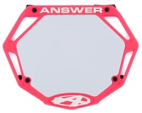Image 1 for Answer 3D BMX Number Plate (Pink) (Pro)