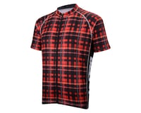 Image 1 for Belch Red Plaid Short Sleeve Jersey (Red)