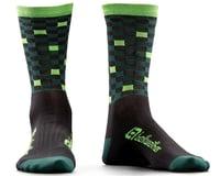Bellwether Pixel Sock (Black/Forest/Citrus)