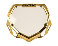 Box Two Number Plate (Gold/Chrome)