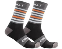 Castelli Gregge 15 Socks (Dark Grey/Orange)