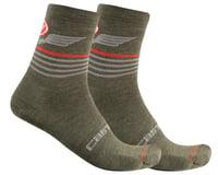 Castelli Lancio 15 Socks (Military Green)