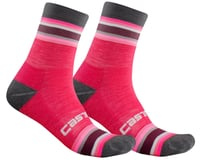 Castelli Striscia 13 Women's Socks (Electric Magenta)