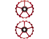 CeramicSpeed Spare Oversized Pulley Wheels: Alloy, Red