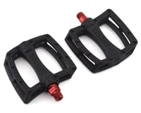 "Colony Fantastic Plastic Pedals (Black/Red) (Pair) (9/16"")"
