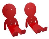 Image 1 for DaHANGER Dan Pedal Hook Set (Red) (2 Pack)