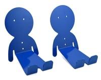 Image 1 for DaHANGER Dan Pedal Hook Set (Blue) (2 Pack)