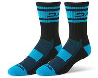 Dakine Step Up Cycling Socks (Black/Cyan)