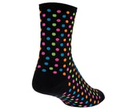 """Image 2 for DeFeet Aireator 4"""" Spotty Sock (Black) (L)"""