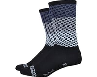 "DeFeet Hi Rouleur Aireator 6"" Speak Easy Sock (Black/White) (S)"