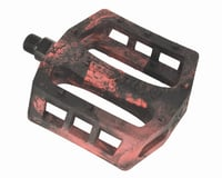 Demolition Trooper Plastic Pedals (Black/Red Swirl)
