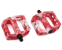 Demolition Trooper Plastic Pedals (White/Red Swirl) (Pair)