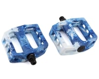 Demolition Trooper Plastic Pedals (White/Blue Swirl) (Pair)