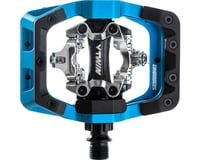 "DMR V-Twin Clipless Pedals: 9/16"", Alloy Outer Platform, Blue"