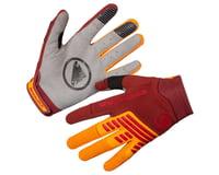 Endura SingleTrack Long Finger Gloves (Tangerine)