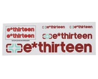E*Thirteen Race Handlebar Decal Set (All 'Round Red)