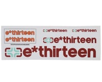 E*Thirteen Race Handlebar Decal Set (Burnt Orange)