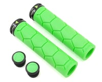 Fabric Silicon Lock On Grips (Green)