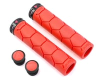 Fabric Silicon Lock-On Grips (Red)