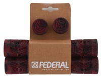 Image 2 for Federal Bikes Command Flangeless Grips (Blood Red/Black) (Pair)