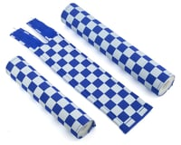 Image 1 for Flite Checkerboard BMX Padset (Blue/White)
