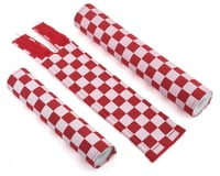Flight Flite Checkerboard BMX Padset (Red/White)