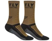 Fly Racing Factory Rider Socks (Khaki/Black/Grey)