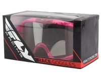 Image 3 for Fly Racing Zone Composite Goggle (Grey/Pink) (Clear Lens)