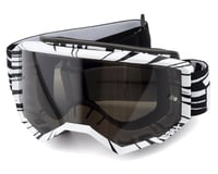 Fly Racing Zone Goggle (Black/White) (Dark Smoke Lens)