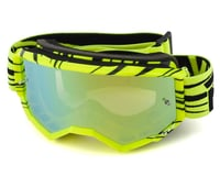 Fly Racing Zone Youth Goggle (Hi-Vis/Black) (Gold Mirror Lens) | relatedproducts