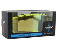 Image 2 for Fly Racing Zone Youth Goggle (Hi-Vis/Black) (Gold Mirror Lens)