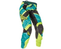 Fly Racing 2016 Kinetic Girls Youth Pants (Teal/Hi Vis Yellow)