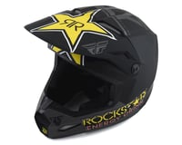 Image 1 for Fly Racing Kinetic Rockstar Helmet (Matte Grey/Black/Yellow) (2XL)