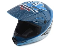 Image 1 for Fly Racing Kinetic K120 Youth Helmet (Blue/White/Red) (Kids S)