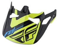 Fly Racing Werx Helmet Visor (Ultra) (Black/Hi-Vis Yellow)
