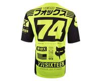 Image 2 for Fox Racing Demo Union Short Sleeve Jersey (Matte Black/High Vis)